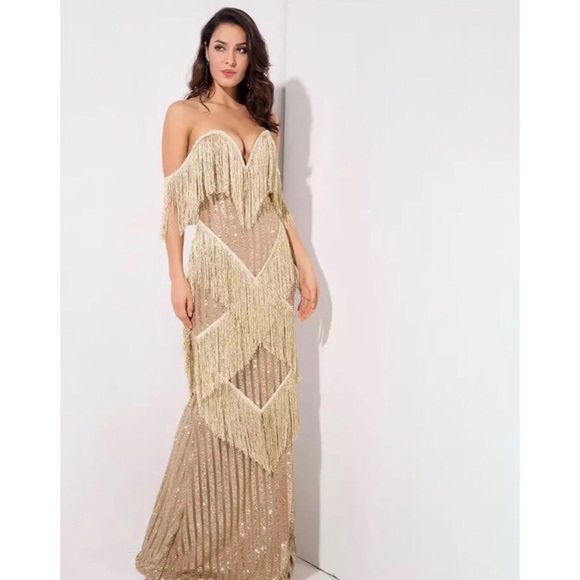 Long Fringe Dress